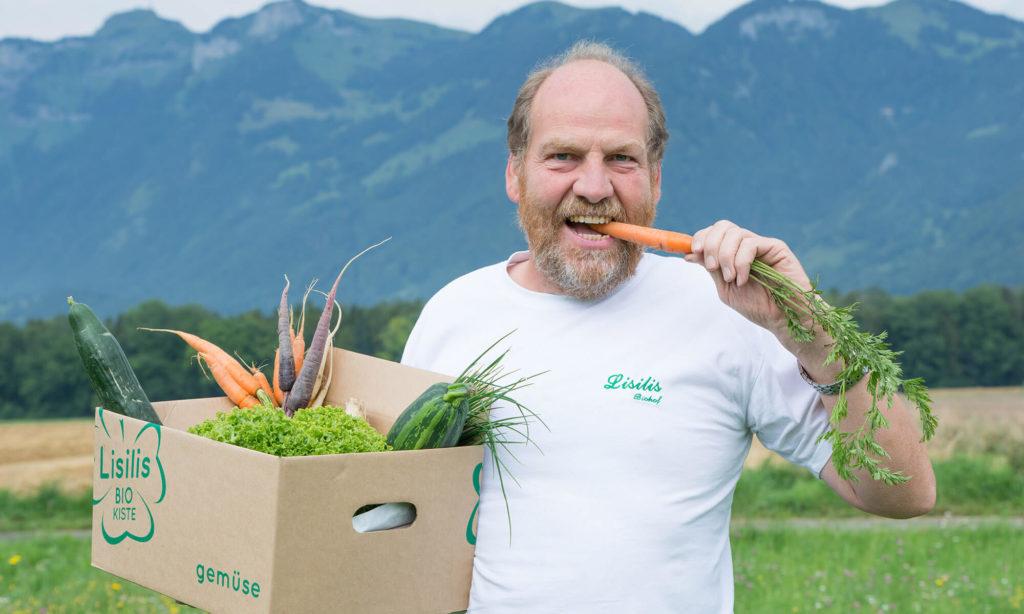 Karl mit der Bio-Kiste