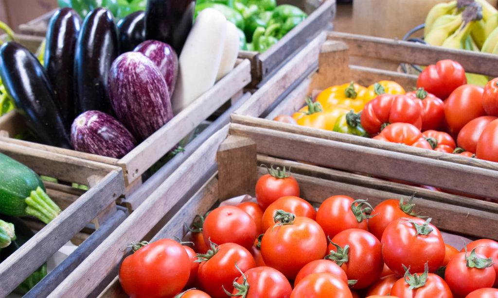 Bio-Tomaten im Laden